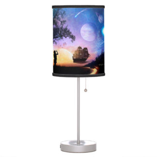 Space Exploration Artwork Voyager Spacecraft Table Lamp