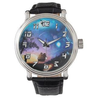 Space Exploration Artwork Voyager Spacecraft Wrist Watch