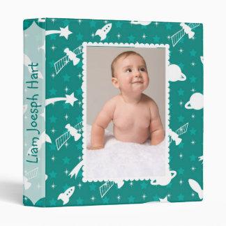Space Exploration Baby Album Vinyl Binders