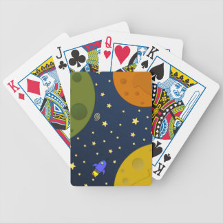Space exploration bicycle playing cards