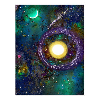 Space Exploration Postcard