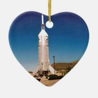 Space Exploration Rocket Ceramic Ornament