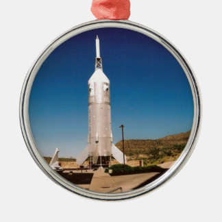 Space Exploration Rocket Metal Ornament