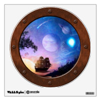 Space Exploration Voyager Steampunk Porthole