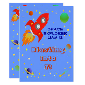 Space Explorer 5x7 Invitation