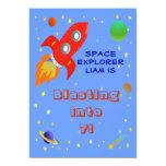"""Space Explorer 5x7 Invitation 5"""" X 7"""" Invitation Card"""