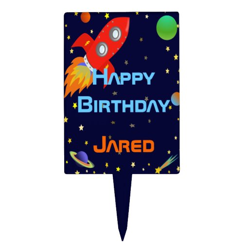 Space Explorer Personalized Cake Pick