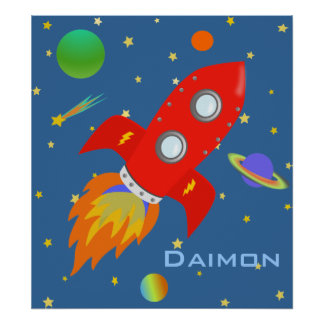 Space Explorer Personalized Poster