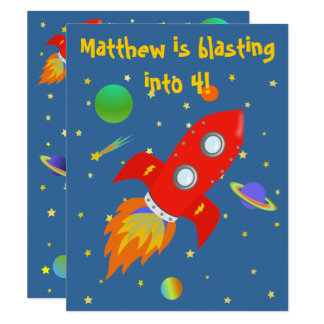 Space Explorer small Invitation