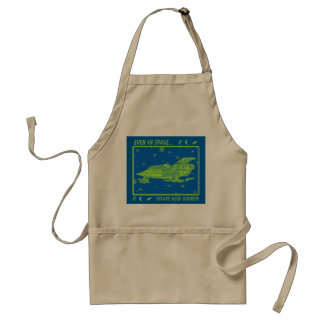 Space Fighter 67/Blue & Green Adult Apron