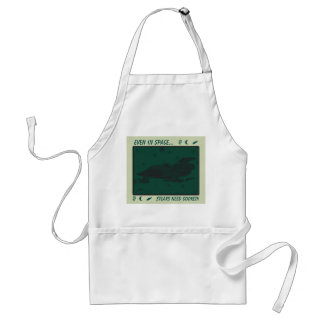 Space Fighter 67/Green/Black Adult Apron