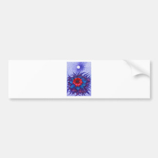Space Flower Car Bumper Sticker