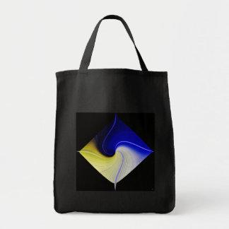 Space Flower Grocery Bag