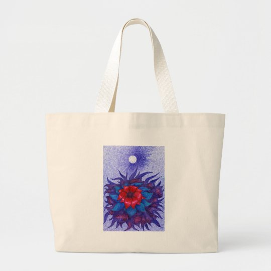 Space Flower Large Tote Bag