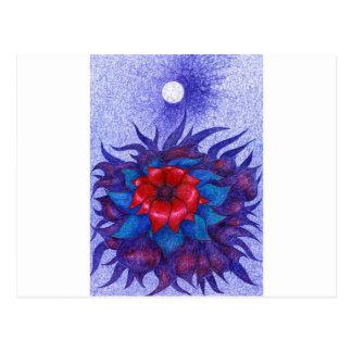 Space Flower Postcard
