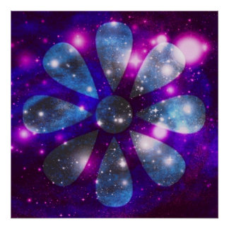 Space Flower Poster