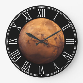 Space Full Color of the Planet Mars Large Clock