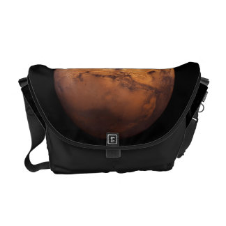 Space Full Color of the Planet Mars Messenger Bag