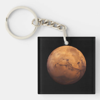 Space Full Color of the Planet Mars Single-Sided Square Acrylic Keychain