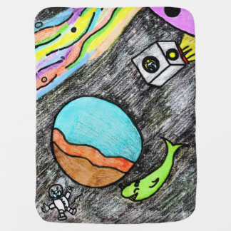 Space Fun Stroller Blanket