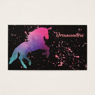 Space Galaxy Abstract Unicorn Splash Business Card