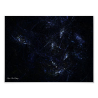 Space Galaxy Fractal by Kitty Ann Poster
