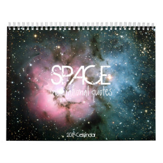 Space galaxy inspirational quote hipster quotes wall calendars