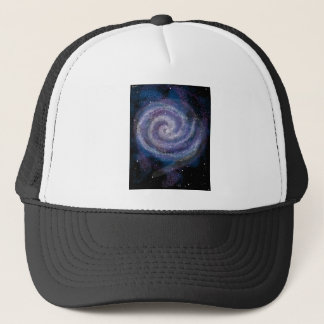 space galaxy milky way trucker hat
