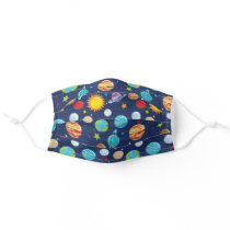 Space Galaxy Planets Adult Cloth Face Mask