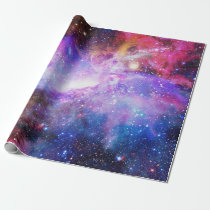 Space Galaxy Purple Wrapping Paper