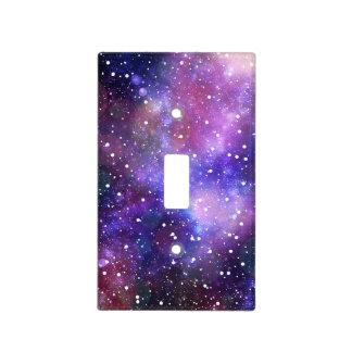 Space galaxy stars stardust purple magic kids room light switch plate