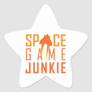 Space Game Junkie Star Stickers
