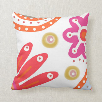Space Garden. Large bold colourful flowers Pillow