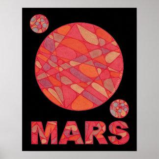 """Space Geek Love Mars Red Planet 16"""" x 20"""" Print"""