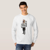 Space German Shepherd Long Sleeve T-Shirt