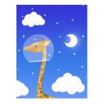space giraffe postcard