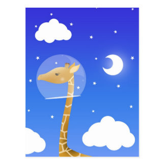 space giraffe postcard
