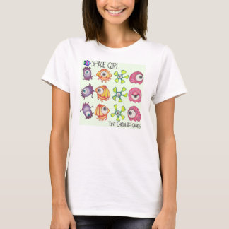 Space Girl Game:  Frame by Frame Alien T-shirt