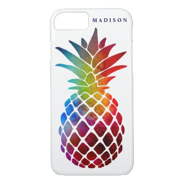 Beach Themed Space Glitter Pineapple Case-Mate iPhone 7 Case