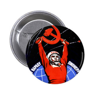 Space Glory 2 Inch Round Button