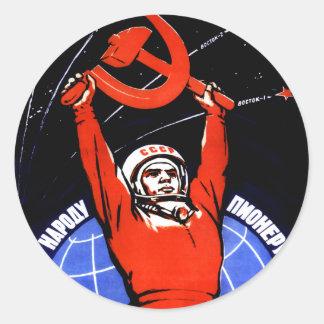 Space Glory Round Stickers