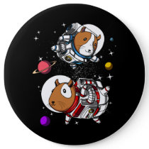 Space Guinea Pigs Astronauts Cosmic Cavy Pet Button