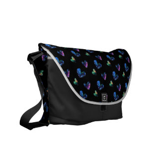Space Hearts Courier Bag