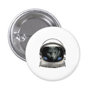 Space Helmet Astronaut Cat Button