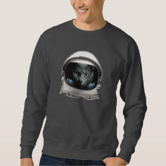 Space Helmet Astronaut Cat Sweatshirt