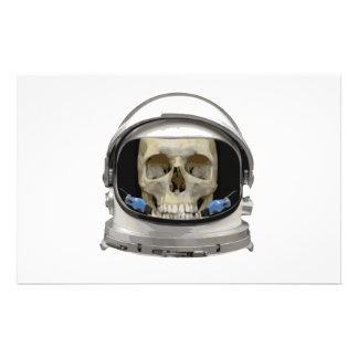 Space Helmet Astronaut Skull Stationery
