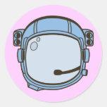 Space Helmet Classic Round Sticker