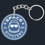 "Space Hipsters 2&quot; Keychain<br><div class=""desc"">It&#39;s round! It&#39;s blue! It&#39;s Space Hipster cool! What more could you want with our logo keychain?</div>"