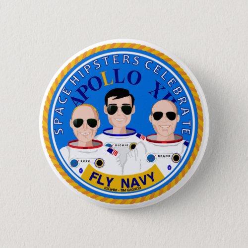 Space Hipsters Apollo 12 Anniversary Button
