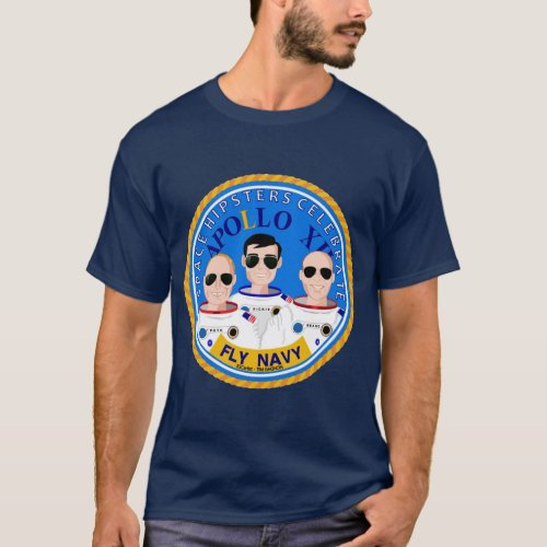 Space Hipsters Apollo 12 Anniversary t_shirt